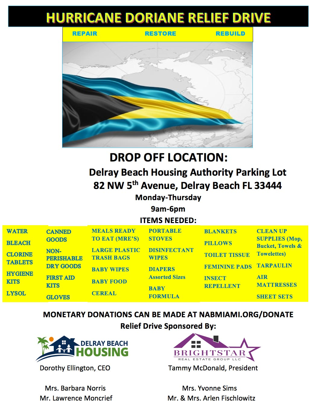 Bahamas Hurricane Relief Donations